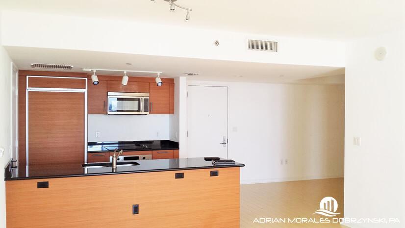 50 Biscayne kitchen of a 2 bedroom plus den unit