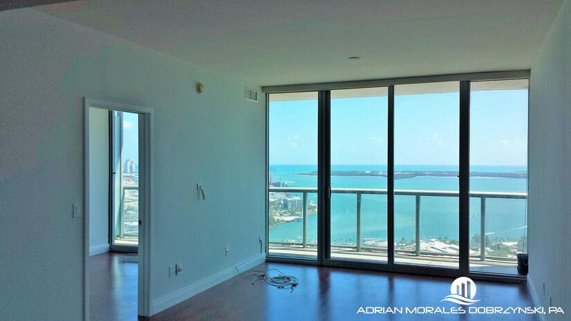 2 bedroom unit with water views from every room at 50 Biscayne
