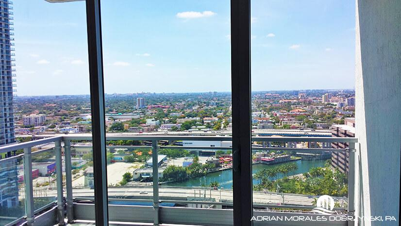 West and Miami river views from Mint condo