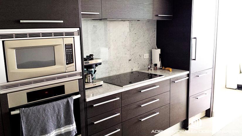 Gorgeous kitchen at 900 Biscayne Bay in Miami