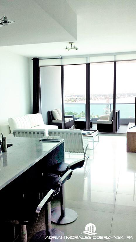One bedroom plus den at 900 Biscayne Bay condominium