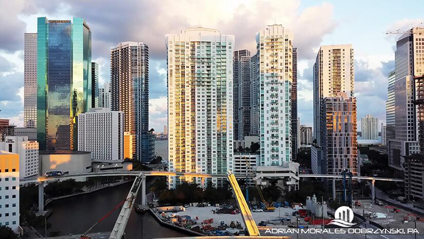 Views of Brickell, Downtown and the Miami River from Mint