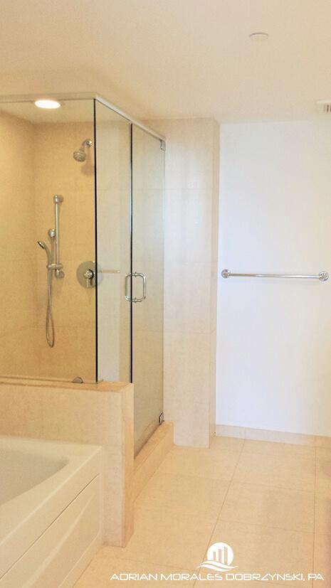 50 Biscayne Master bathroom with shower and jacuzzi