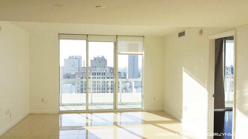 2 bedroom split floor plan looking West at 50 Biscayne