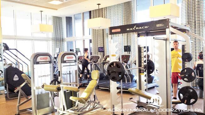 Gym and amenities at 50 Biscayne condominium