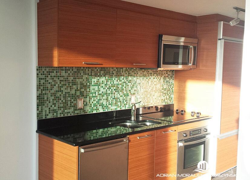 Studio apartment kitchen at 50 Biscayne
