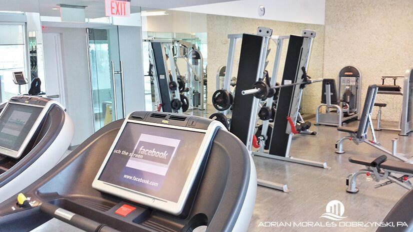 Gym at Mint condos
