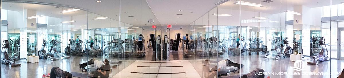 Gym and yoga facilities at the Mint