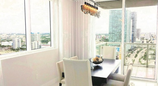 Vizcayne unit# 3308-North.  Downtown Miami