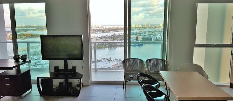 Vizcayne unit# 3407-South.  Downtown Miami