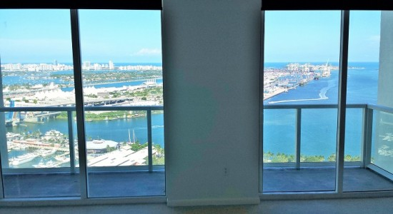 Vizcayne unit# 3707-South.  Downtown Miami